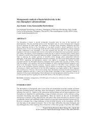 Metagenomic analysis of bacterial diversity in the rice rhizosphere ...