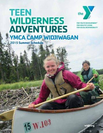 teen Wilderness adventures - Ymca