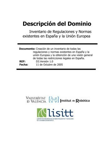 Descripción del Dominio - Instituto de Robotica