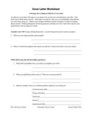 cover letter worksheet. Black Bedroom Furniture Sets. Home Design Ideas