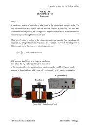 NEU-General Physics Laboratory PHY102 EXP VIII Page 1 PHY 102 ...
