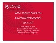 Water Quality Monitoring Environmental Stewards - Rutgers ...