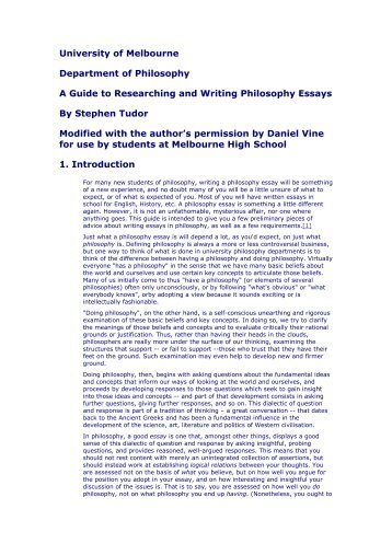 philosophy essay conclusion Philosophy 1100: introduction to ethics writing a good ethics essay the writing of essays in which you argue in support of a position on some.