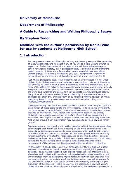 Essay on philosophy