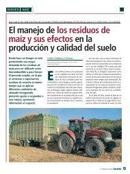 El manejo de los residuos de maíz y sus efectos en la producción y ...