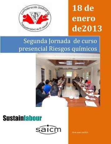 Segunda Jornada de curso presencial Riesgos ... - Sustainlabour