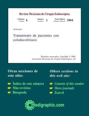 Tratamiento de pacientes con coledocolitiasis - edigraphic.com