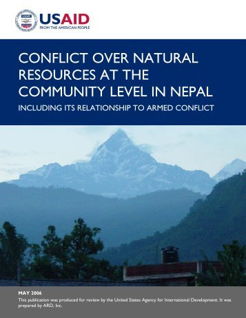 conflict over natural resources at the community level in nepal