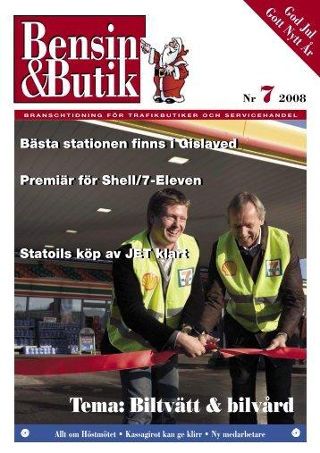 Tema: Biltvätt & bilvård - bensin & butik