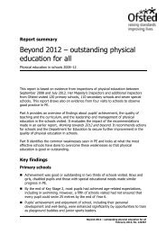 Beyond 2012 – outstanding physical education for all - BHF National ...
