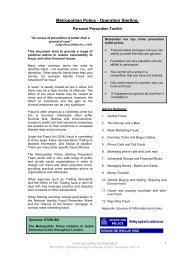 Metropolitan Police - Operation Sterling: - Action on Elder Abuse