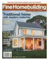 Fine Homebuilding - Ian McDonald, AIA