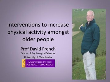Interventions to increase physical activity amongst older people