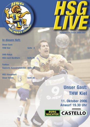 THW Kiel 11. Oktober 2006 Anwurf 19.30 Uhr - HSG Düsseldorf