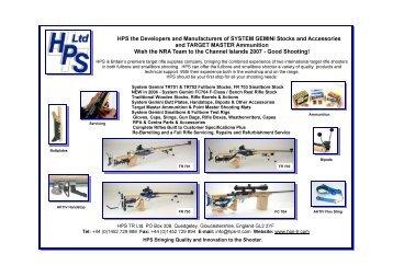 The team's tour brochure. - National Rifle Association