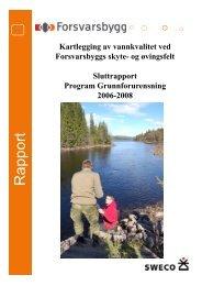 Sluttrapport program grunnforurensning Midt-Troms ... - Forsvarsbygg