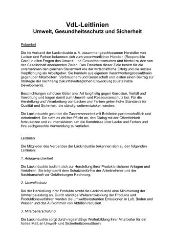 zum pdf-Download - VdL Verband der Lackindustrie e.V.