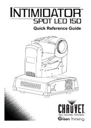 Intimidator Spot LED 150 Quick Reference Guide Rev. 2 Multi ...