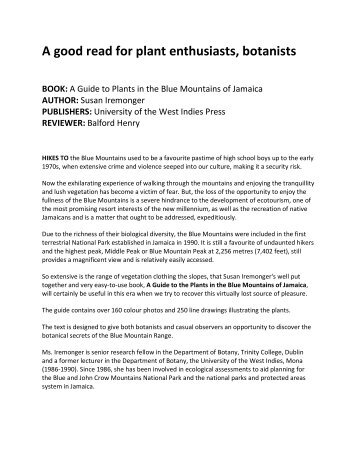 READ MORE - The University of the West Indies Press