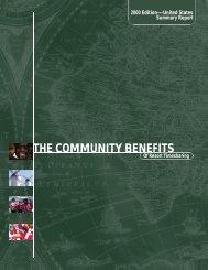 THE COMMUNITY BENEFITS - RCI.com