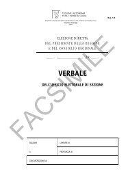 facsimile verbale dell'ufficio elettorale di sezione - Sistema delle ...
