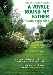 19–23 October 2010 7.45 pm The Kenton Theatre, New Street ...