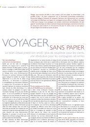 Voyager sans papier - CSC