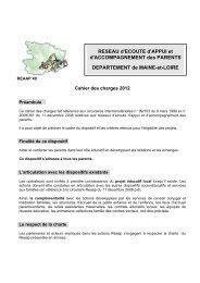 RESEAU d'ECOUTE d'APPUI et d'ACCOMPAGNEMENT des ... - Caf.fr