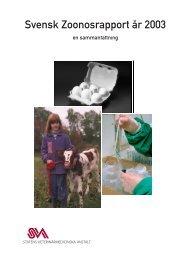 Svensk zoonosrapport 2003 - SVA