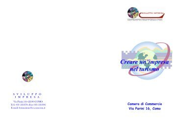 Volantino turismo - Camera di Commercio