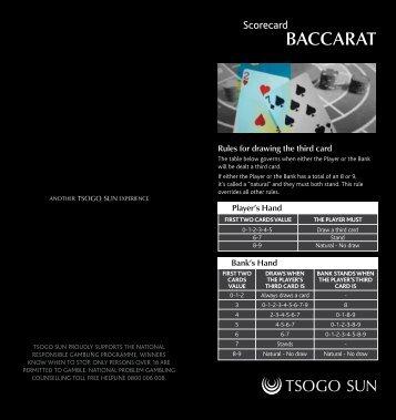 BACCARAT - Tsogo Sun