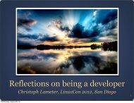 Reflections on being a developer - Linux Foundation Events