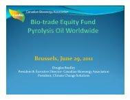 l Brussels, June 29, 2011 - IEA Bioenergy Task 40
