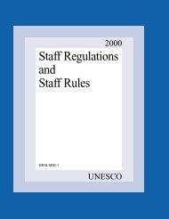 Staff regulations and staff rules, 2000; 2000 - Intervoc