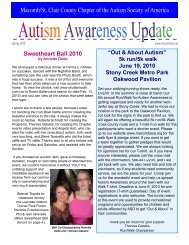 February - Macomb St. Clair Autism Society of America