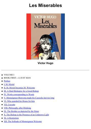 "literary analysis essay les miserables Literary analysis, victor hugo - les essay on les misérables missing an archetypal and sociological analysis of les miserables essay - ""look down and."