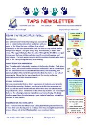 Term 3 - Week 4 - Thomas Acres Primary School