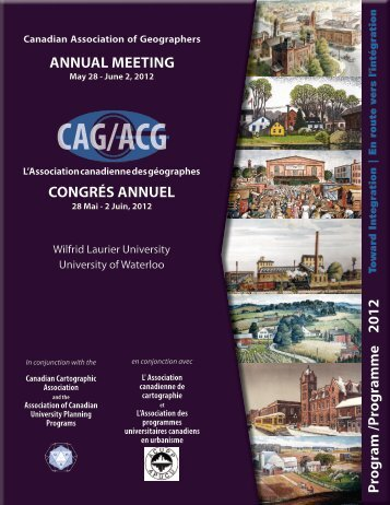 2012 - The Canadian Association of Geographers