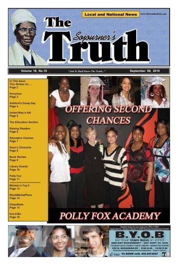 Volume 18, No.19 September 08, 2010 - The Sojourner's Truth