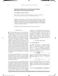 reduced complexity maximum likelihood decoding of linear ... - Net