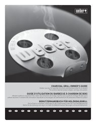 Algemene handleiding brikettenbarbecues - Weber