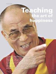 Teaching the art of happiness - Swiss News
