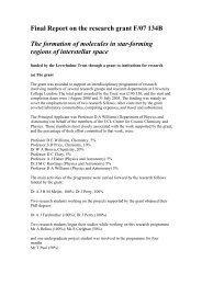 Leverhulme report - Department of Chemistry - UCL