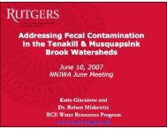 100 - Rutgers Cooperative Extension Water Resources Program