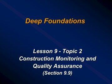 Lesson 09 - Part 2 - Deep Foundations