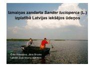 IzmaiĦas zandarta Sander lucioperca (L.) izplatībā Latvijas iekšējos ...
