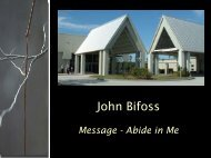 John Bifoss - Faith Fellowship Church
