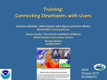 Satellite Training for Developers and Users - GOES-R