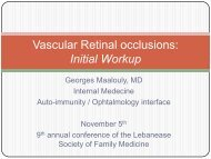 Vascular Retinal occlusions