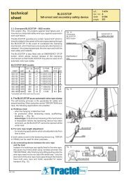 technical sheet - Tractel